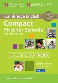 Cover Compact First for Schools Second edition 978-3-12-535112-7 Englisch