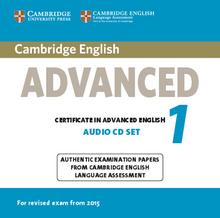 Cover Cambridge English Advanced 1 for updated exam 978-3-12-535294-0 Englisch
