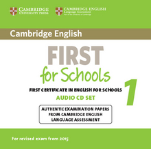 Cover Cambridge English First for Schools 1 for updated exam 978-3-12-535299-5 Englisch