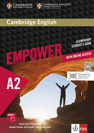 Cover Cambridge English Empower A2 978-3-12-540370-3 Englisch