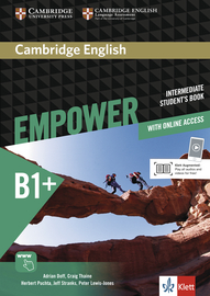 Cover Cambridge English Empower B1+ 978-3-12-540384-0 Englisch