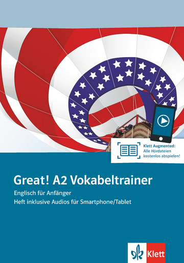 Cover Great! A2 Vokabeltrainer 978-3-12-501517-3 Englisch
