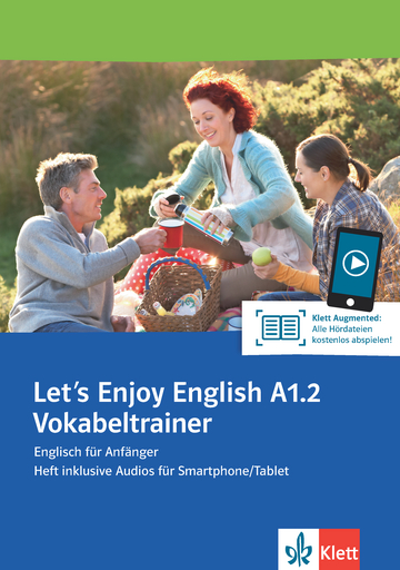 Cover Let's Enjoy English A1.2 Vokabeltrainer 978-3-12-501654-5 Englisch