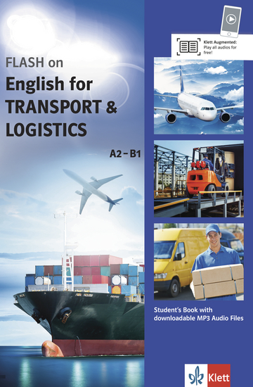 Cover FLASH on English for TRANSPORT and LOGISTICS A2-B1 978-3-12-501696-5 Englisch
