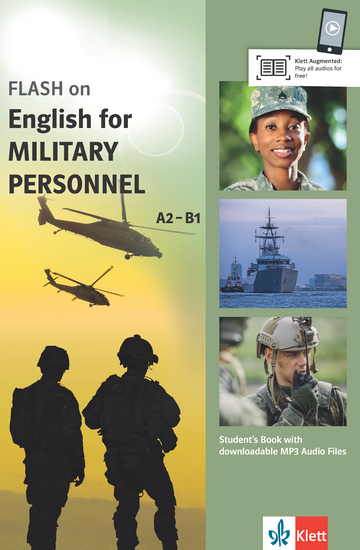 Cover FLASH on English for MILITARY PERSONNEL A2-B1 978-3-12-501697-2 Englisch