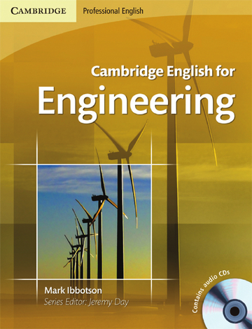 Cover Cambridge English for Engineering 978-3-12-534286-6 Englisch für den Beruf