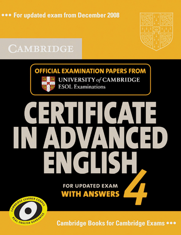 Cover Cambridge Certificate In Advanced English 4 For Updated Exam 978 3 12