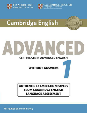 Cover Cambridge English Advanced 1 For Updated Exam 978 3 12 535292