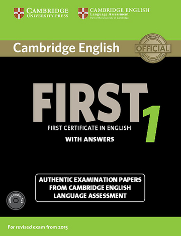 Cover Cambridge English First 1 For Updated Exam 978 3 12 535296