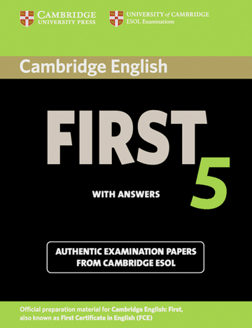 Cover Cambridge First Certificate In English 5 978 3 12 539928 0