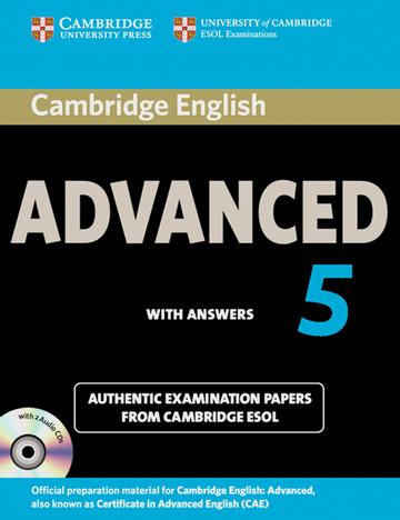 Cover Cambridge Certificate In Advanced English 5 978 3 12 539948 8