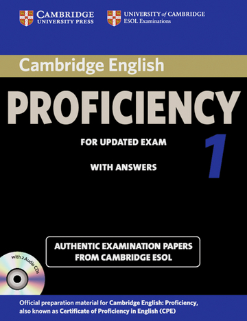 Cover Cambridge English Proficiency 1 For Updated Exam 978 3 12 539970