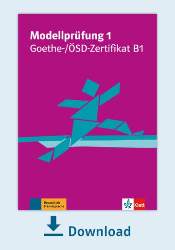 Modellprüfung 1 Goethe ösd Zertifikat B1 Pdf Mit Audio Dateien