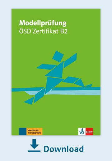 Modellprüfung ösd Zertifikat B2 Pdf Mit Audio Dateien Klett Sprachen