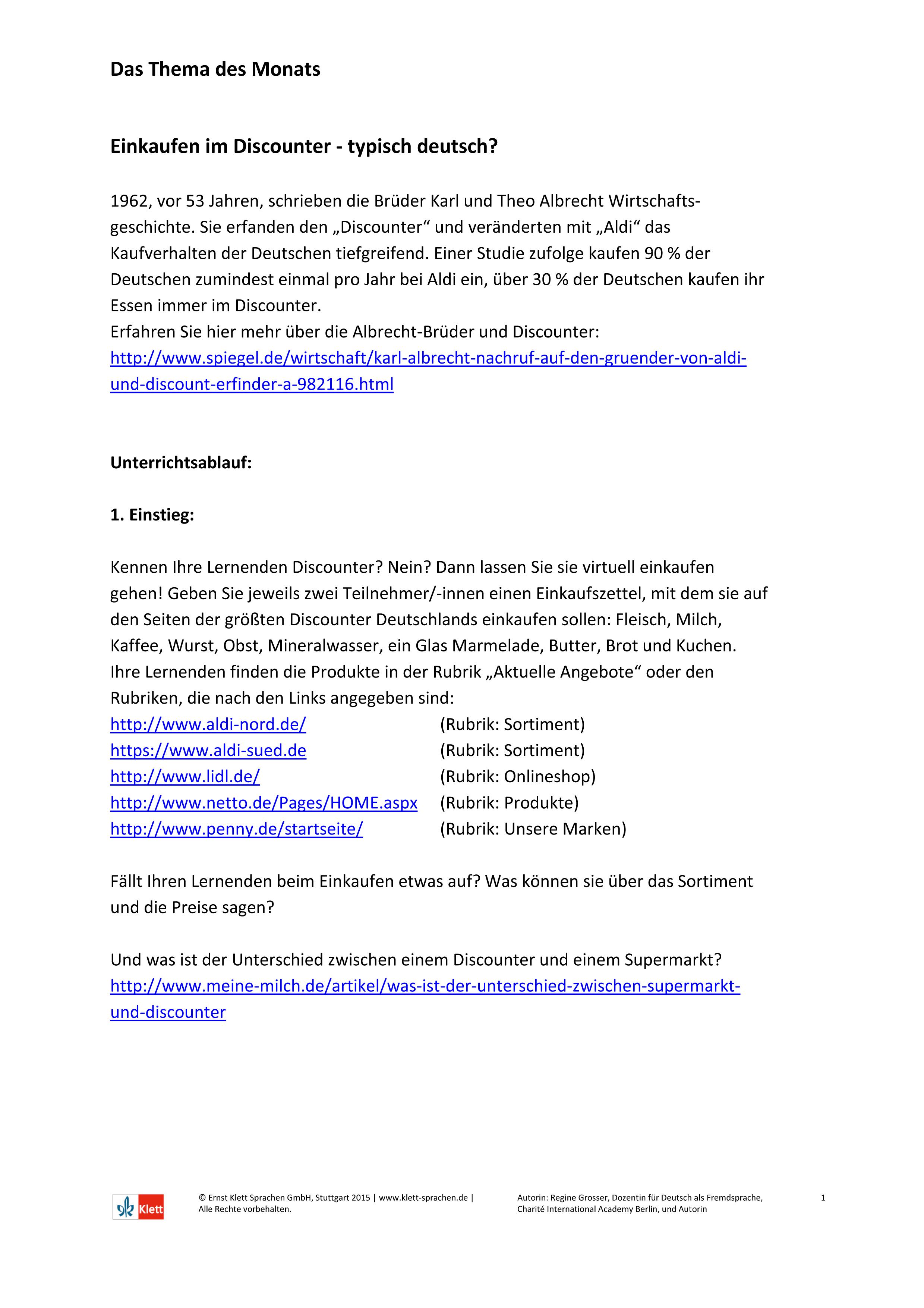 Kopiervorlagen der die DaF | Klett Sprachen