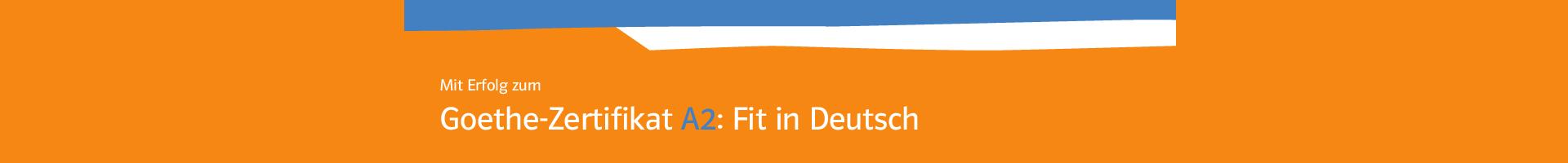 Mit Erfolg Zum Goethe Zertifikat A2 Fit In Deutsch Lehrwerk